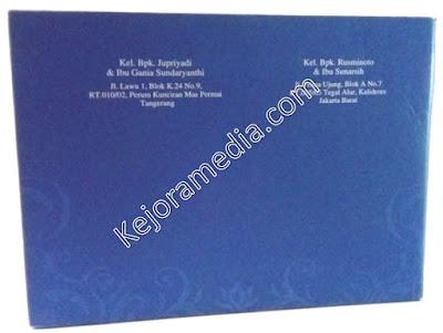 Undangan satu Warna Biru Dongker Hardcover