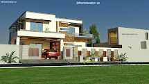 3d Front 1 Kanal House Plan Layout 50' X 90