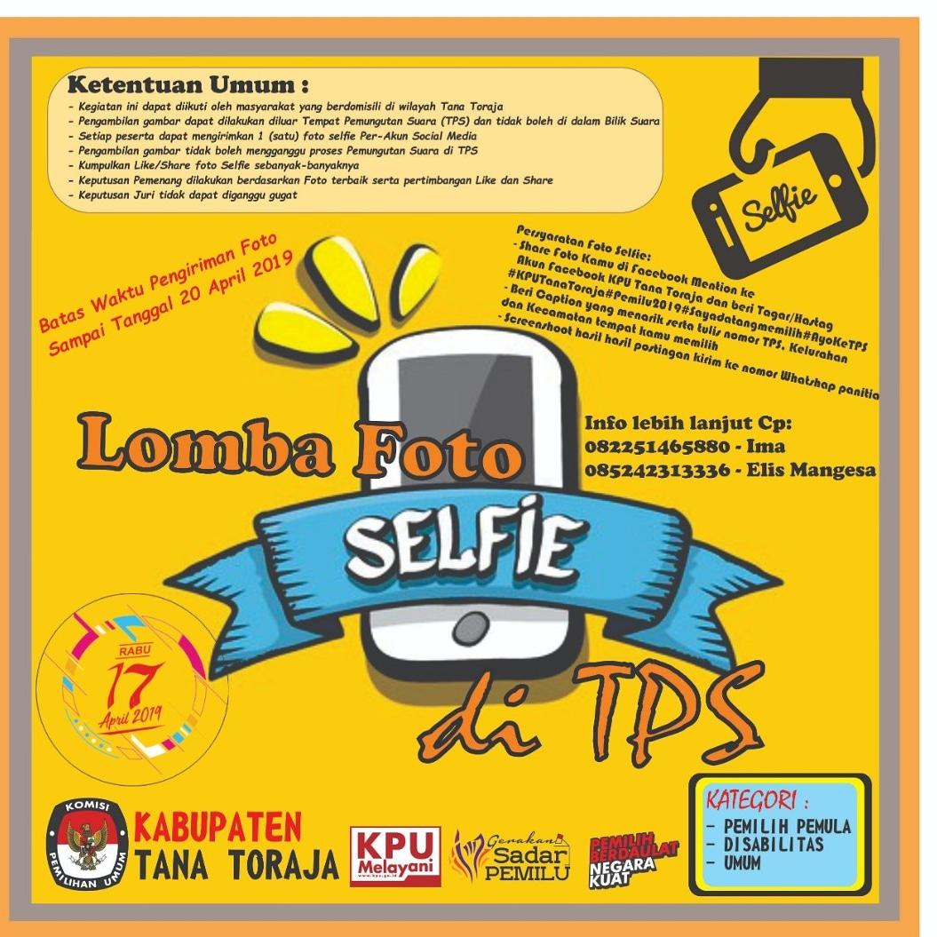 Ayo Ikutan Lomba Selfie di TPS Wilayah Tana Toraja, Total Hadiah 12 Juta Rupiah