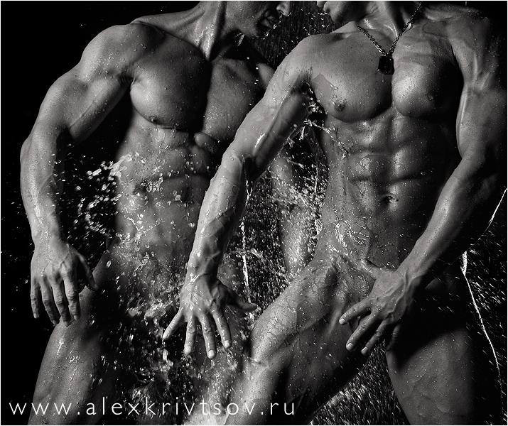 Video de atletas masculinos desnudos