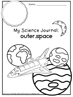 Colors and Kindergarten: My Science Journal: Outer Space