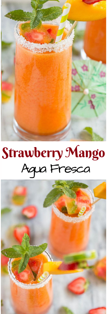 Strawberry Mango Agua Fresca #freshjuice #drinks