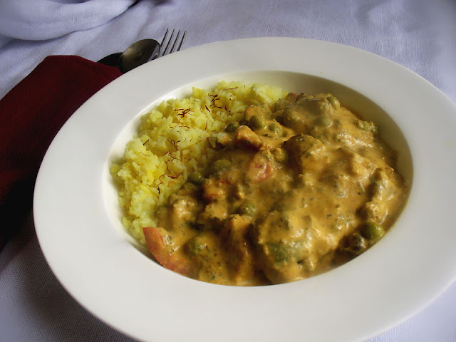 Paneer Mushroom Curry with Mixed Vegetables and Green Peas