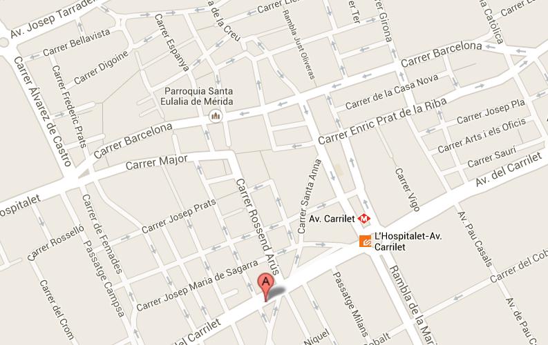 https://www.google.es/maps/place/Avinguda+del+Carrilet,+337,+08907+L%27Hospitalet+de+Llobregat,+Barcelona/@41.3599163,2.0986144,16z/data=!4m2!3m1!1s0x12a499240649bb7f:0x4a82f7c1af673535?hl=es