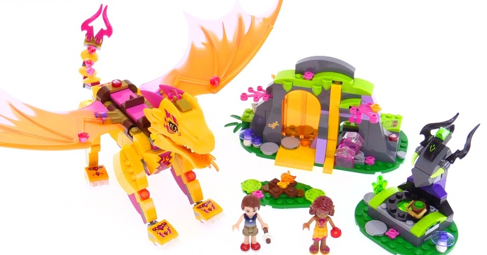 Ausmalbilder Lego Elves Drachen: LEGO Elves Fire Dragon's Lava Cave Review! 41175