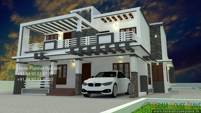box type house design 2500 sqft.
