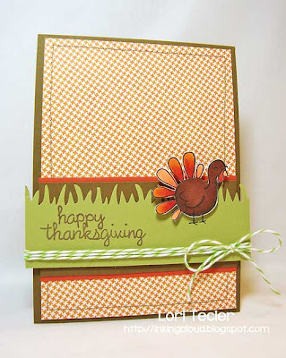 Happy Thanksgiving-designed by Lori Tecler-Inking Aloud-stamps from Lawn Fawn