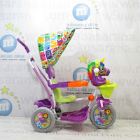 Royal RY9188CJ Unicorn Ayunan Jok Kain Kanopi Baby Tricycle