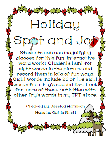 http://www.teacherspayteachers.com/Product/Christmas-Spot-and-Jot-1018866