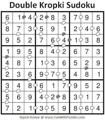 Answer of Double Kropki Sudoku (Fun With Sudoku #309)