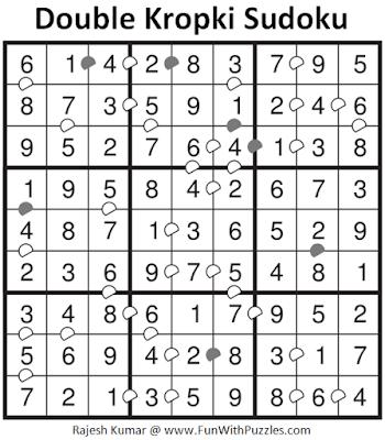 Answer of Double Kropki Sudoku (Fun With Sudoku #309)