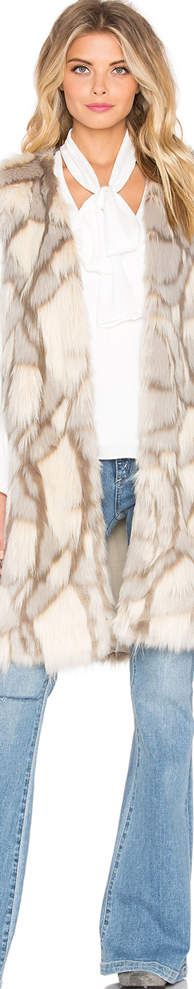 ETERNAL SUNSHINE CREATIONS Edee Marble Faux Fur Vest