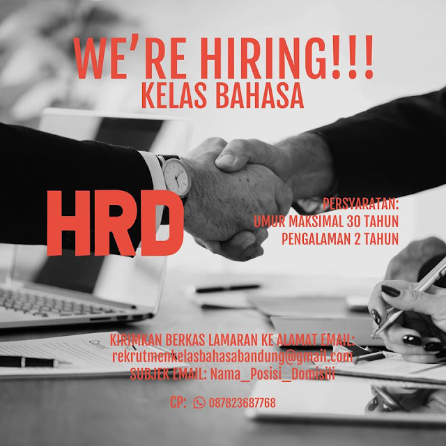 Lowongan Kerja HRD / Personalia Bandung