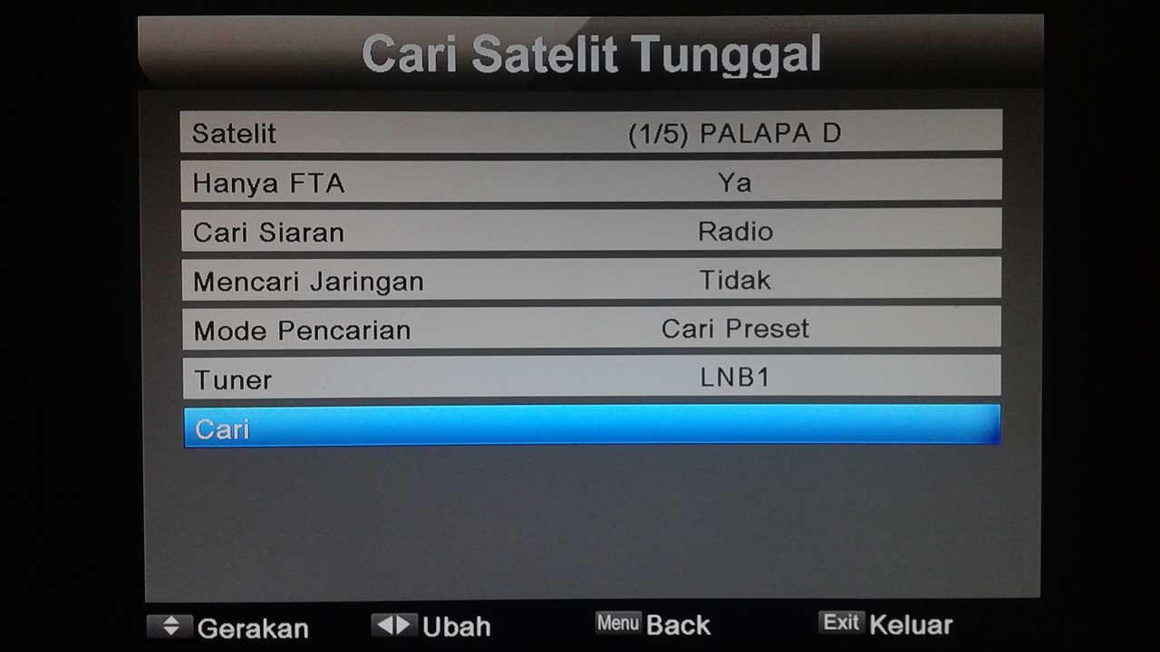 Cara Mencari Saluran Satelit Tunggal Matrix Sinema HD