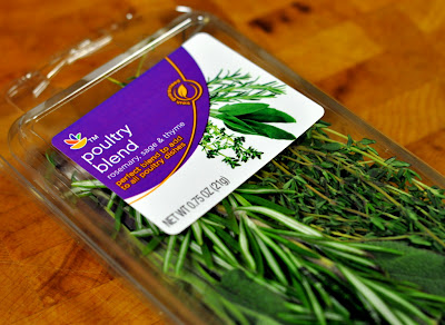 Poultry Blend Package of Herbs (Rosemary, Sage, and Thyme) - Photo by Taste As You Go