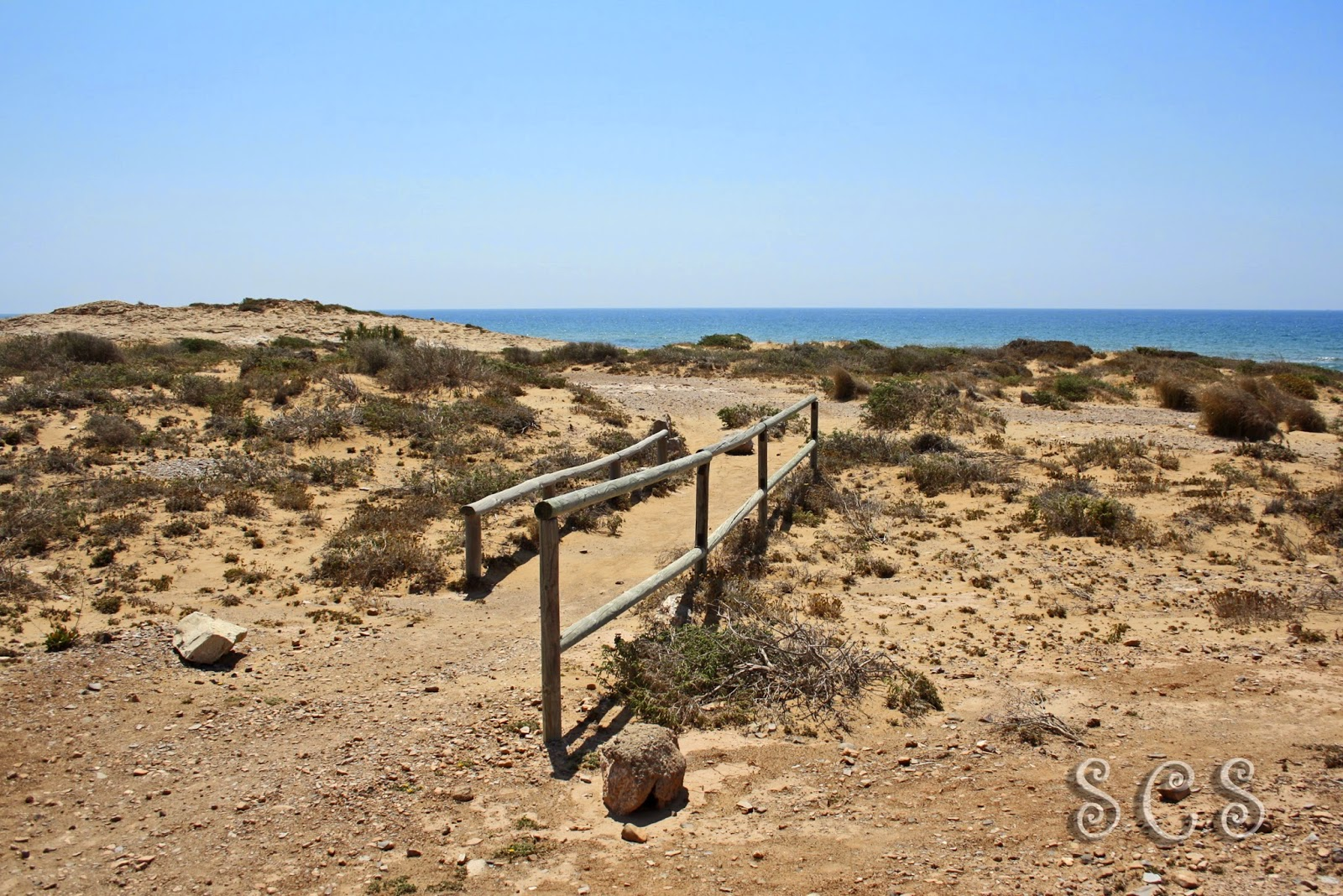 Camino a las dunas fósiles de Calblanque (Murcia)