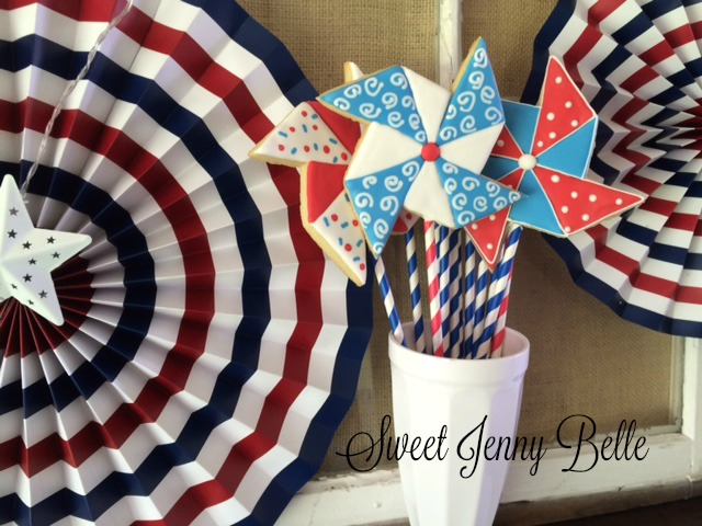 patriotic pinwheel cookie tutorial