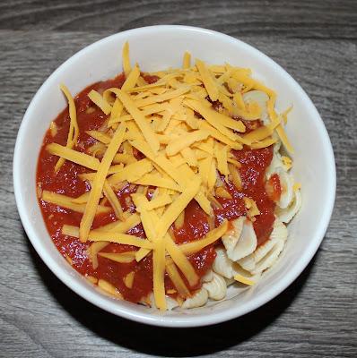 Pasta with Daiya Medium Cheddar Style Block