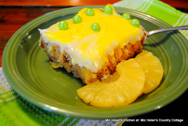 Old Fashioned Pineapple Cake at Miz Helen's Country Cottage