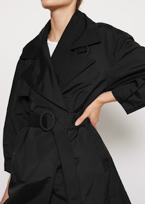 black toteme trench coat