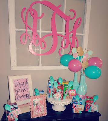 Pancakes and Pajamas birthday party decoration ideas. Food table. Pancake cake. Brunch