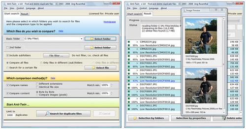 eliminar ficheiros duplicados
