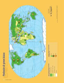 Apoyo Primaria Atlas de Geografía del Mundo 5to. Grado Capítulo 4 Lección 1 Producción de Granos Básicos