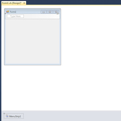 Cara Membuat Menu Pada Visual Basic 2010 / VB.NET