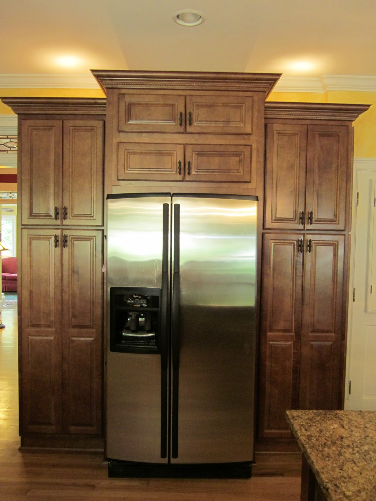 Kitchen Cabinets Around Refrigerator Preventing Food Waste