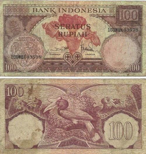 100 rupiah kertas jadul