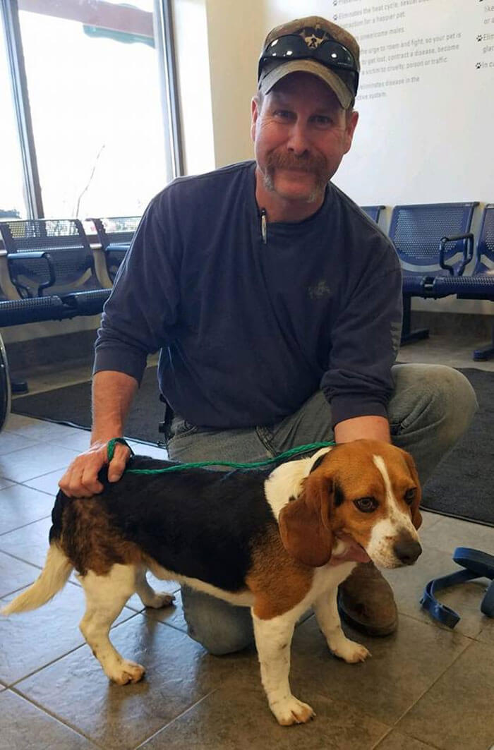 Adorable Beagle Hugs His Rescuer After Being Saved From Being Euthanized In A Shelter