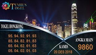 Prediksi Angka Togel Hongkong Kamis 20 Desember 2018
