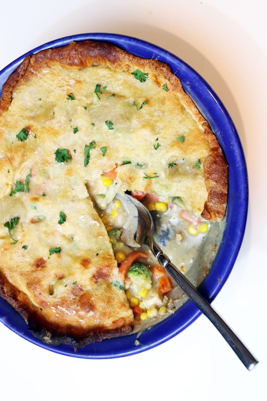 vegan tofu pot pie