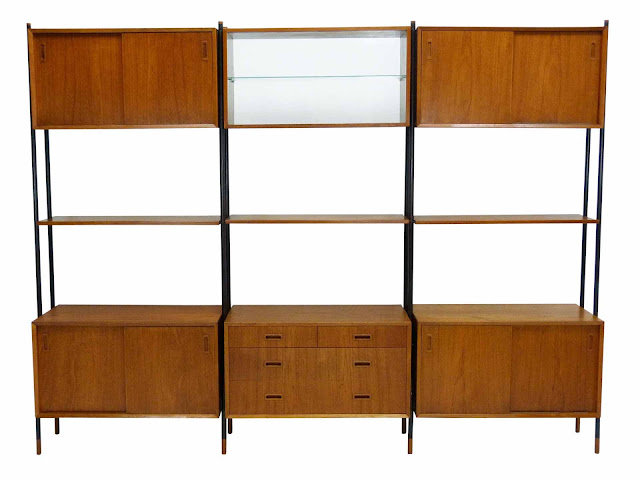 Lyby Danish Modern Teak Wall Unit Front