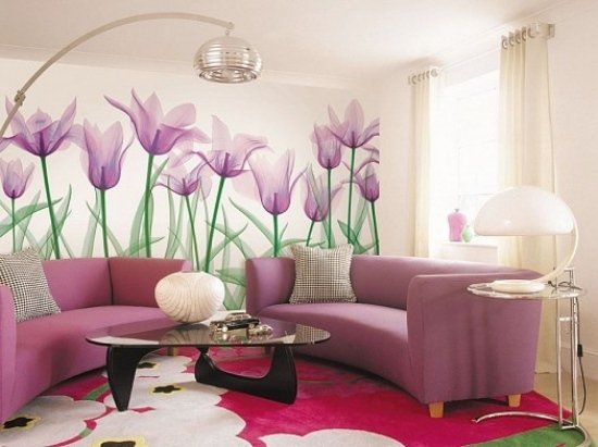Flowers Wall Art and Stylish Wall Decorations ideas for living room