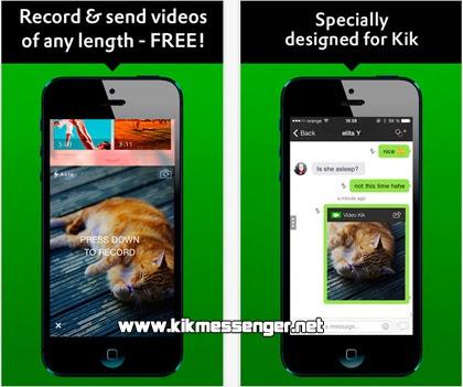 Envia videos a tus amigos con Video for Kik Messenger