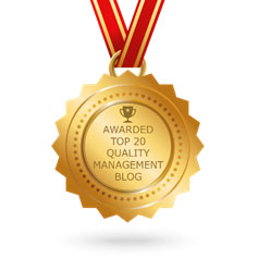 Feedspot Award for Top 20 in Quality Management