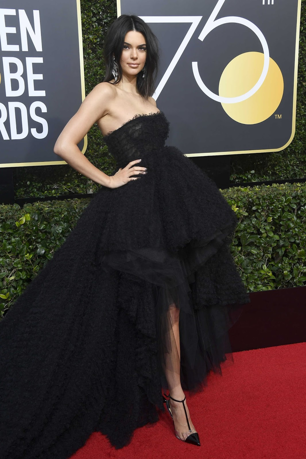 Kendall Jenner on the Red Cart at 75th Annual Golden Globe Awards