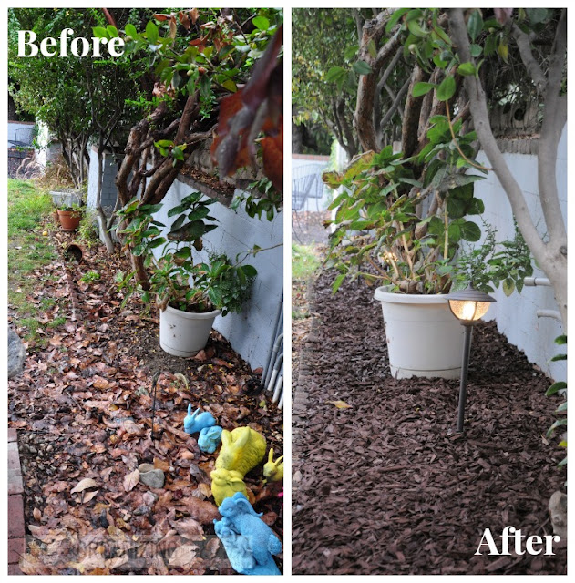 Before and After of cleared up backyard :: OrganzingMadeFun.com