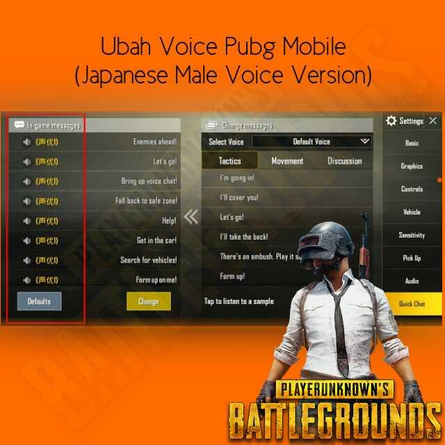 Ubah voice pubg mobile bahasa jepang