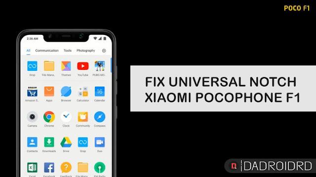 Cara mengatasi Poni (Notch) mengganggu dalam beberapa aplikasi dan games untuk Xiaomi Pocophone F1