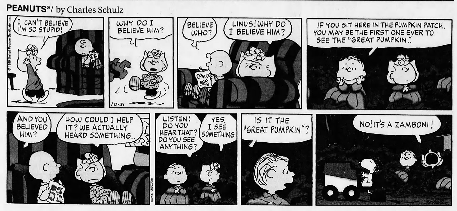 great pumpkin, where are you?: peanuts halloween 1999: happy