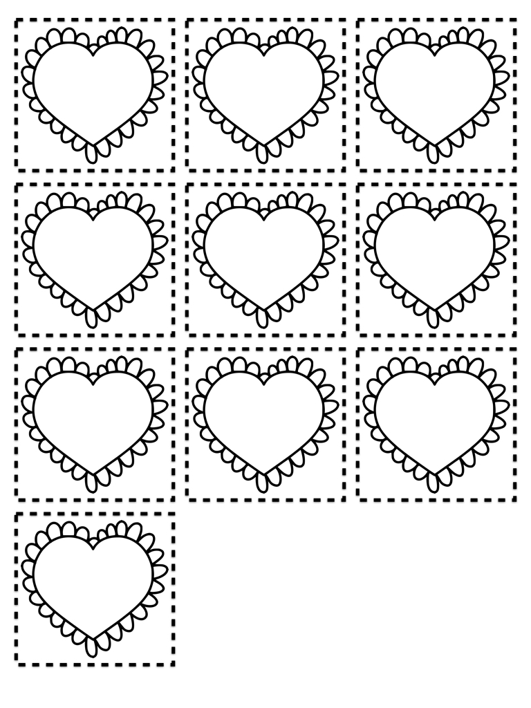Simple Addition and Subtraction Valentine Math mat