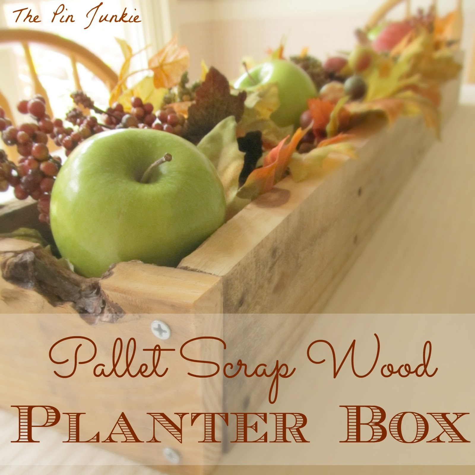 diy rustic planter box made from pallet