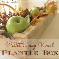 pallet scrap wood planter box