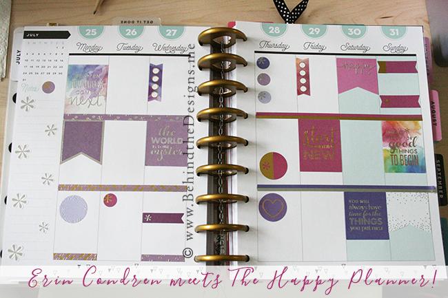 Erin Condren Stickers Meet The Happy Planner -Behind the Designs Recap -Willowcrest Lane Planner Workshop