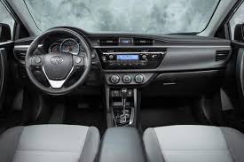 Interior of Toyota Corolla