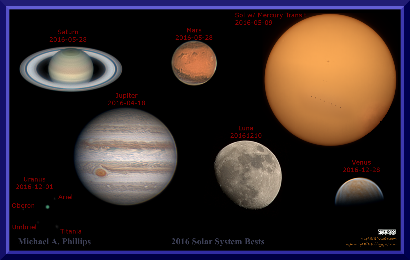 Michael A Phillips Astro Blog Solar System Bests