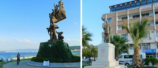 Monumento a Galípoli em Eceabat, Turquia