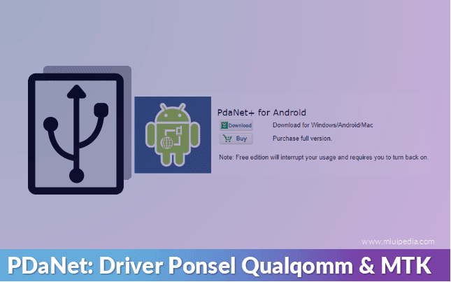 Pdanet: Qualqomm & driver MTK, overcoming the problem of